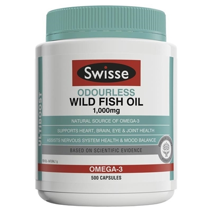 Swisse Ultiboost Odourless Wild Fish Oil Omega 3 1000mg
