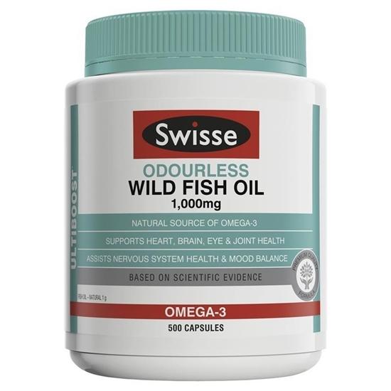 Swisse Ultiboost Odourless Wild Fish Oil Omega 3 1000mg