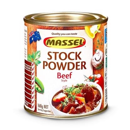 Hạt Nêm Không Bột Ngọt Massel Stock Powder Vị Bò