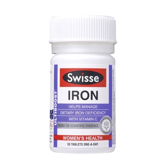 Viên Uống Bổ Sung Sắt Swisse Iron