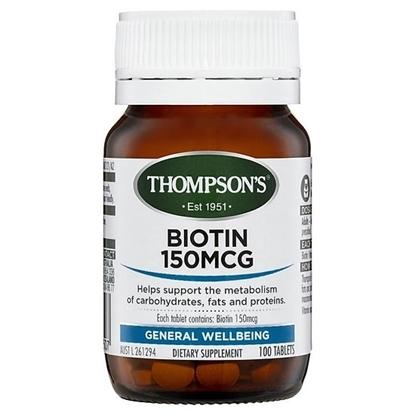 Viên Uống Mọc Tóc và Chống Rụng Tóc Thompson Biotin 150 MCG