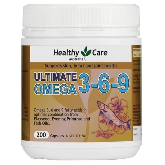 Viên Uống Ultimate Omega 3-6-9 Healthy Care 200 viên
